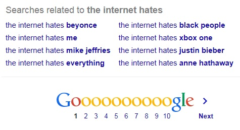 The Internet hates everything.