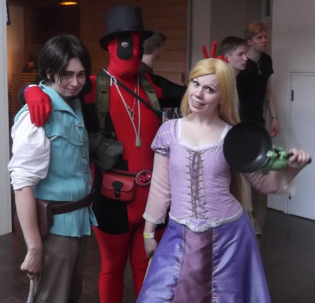 Rapunzel and Eugene. And Pascal!
