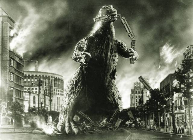 Godzilla attacks Tokyo!