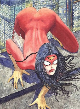 Spider-woman presents ... a new comic book adventure. What?