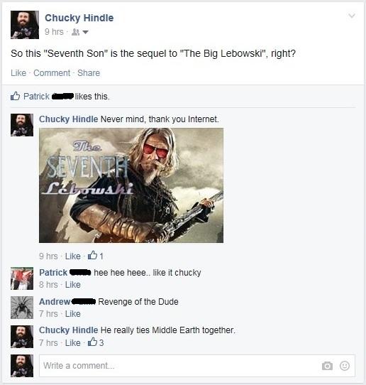 The Seventh Lebowski. Oh Internet.