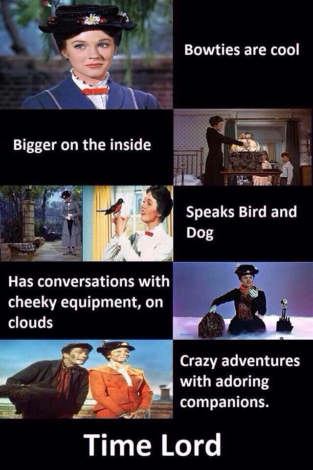 Mary Poppins is a Time Lord.