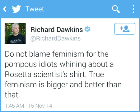 Oh Dawkins. Why do you make me want to disagree with you even when I agree with you?