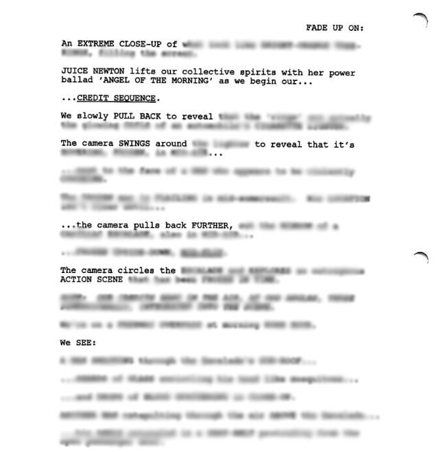 The Deadpool script (alleged, blurred)