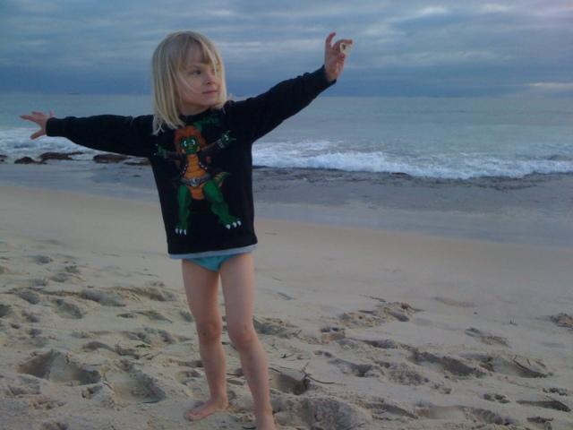 Wump at the beach.