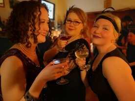 Bella, Mrs. BRKN and Saila enjoying their medicinal alcohol.